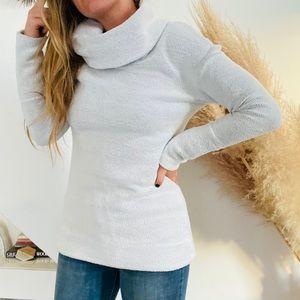 TARGET MERONA Cowl Turtleneck White Tunic Sweater